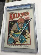 Marvel Graphic Novel 7 Killraven Cgc 9.8 White Pages