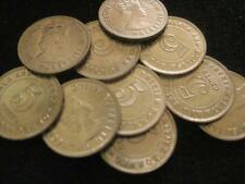 Malaya and British Borneo Malaysia 5 Cents 1958 CH BU lot of 10 BU coins