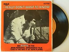 "Elvis Presley - I Really Don't Want to Know - 7"" Single  RARE"