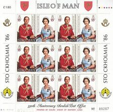 Isle of Man Nr. 319-320** 60th birthday Queen Elizabeth II / STOCKHOLMIA`86