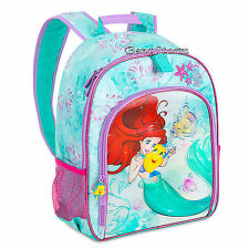 The Little Mermaid Ariel Flounder Girls School 3D Backpack Book Bag Disney Store