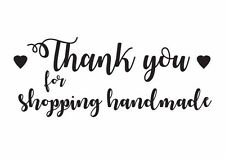 Thank for shopping handmade Rubber Stamp /Tags / Craft / Packaging Envelope