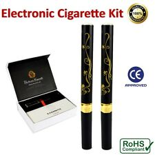 2 x Electronic E-Cigarette Pen 10 x Cartridges USB Cable + Car Charger Full Kit