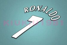 Manchester United Ronaldo #7 UEFA Champions League 97-06 White Name/Number Set