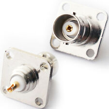 2x BNC Female Socket Chassis Wall/Panel Mount Solder Connector -CCTV Video Plate