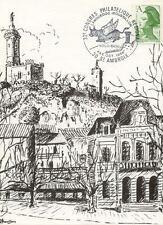 SAINT-AMBROIX carte postale 1 er jour timbrée congrés régional 1986 LE DUGAS