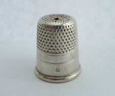 ANTIQUE SIMONS STERLING SILVER SZ. 8 THIMBLE HAS A HOLE ON TOP