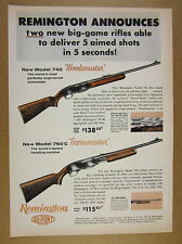 1960 Remington 742 Woodsmaster Rifle & 760 C Carbine vintage print Ad