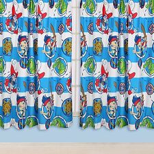 """JAKE & NEVERLAND PIRATES 66"""" x 72"""" CURTAINS matches DOONA NEW DOUBLOONS"""