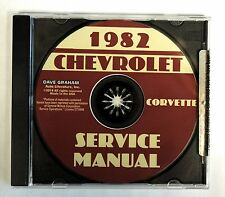 1982 CORVETTE CD SHOP SERVICE REPAIR MANUAL ENGINE DRIVE TRAIN MECHANICAL & MORE