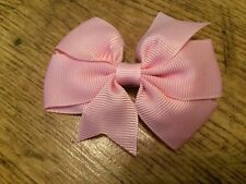 2 x 3 INCH BABY PINK PINWHEEL HAIR BOW WITH ADDED ALIGATOR CLIP PERFECT GIFT