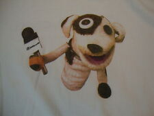 Pet's.com Puppet Dog Pet Retail White Cotton T Shirt Size XL