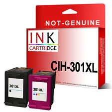 2 NON-OEM Reman Ink For HP Deskjet 2050s 3000 3050 3050A e-All-in-One 301XL