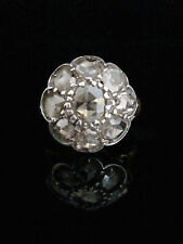 18CT OLD ROSE CUT DIAMOND CLUSTER SPREADS 3.20CT MAKERS MARK