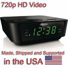 SecureGuard HD 720p Clock Radio Alarm Clock Nanny Cam SPY CAMERA
