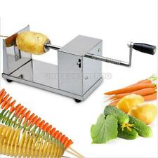 Manual Stainless Steel Twisted Potato Slicer Spiral French Fry Vegetable Cutter