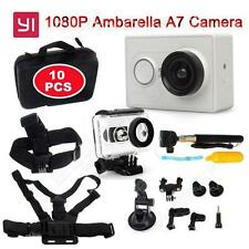 10 in 1 Accessories Bundles Set Kit+Xiaomi Yi Action Camera 16MP+Waterproof Case
