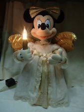 OLDER DISNEY MINNIE MOUSE AS CHRISTMAS  ANGEL 22 INCHES TALL ARMS/HEAD MOVE