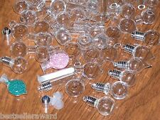 50pc Huge Lot Glass Big Mix bottles * vials charms Necklace locket pendants *