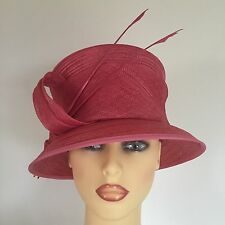 Ladies Occasion Wedding Races Mother Bride Hat Pink By Whiteley England