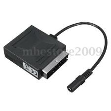 SCART Stereo Male Scart Adapter to 3.5mm Female Adapter Cable Black New
