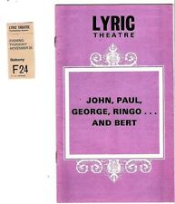 John, Paul, George, Ringo and Bert 1974 Theatre Program Book (Beatles)