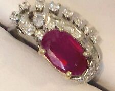 3+CT AGL ANTIQUE UNHEATED (No Heat) BURMA ORIGIN DIAMOND BURMESE RUBY RING