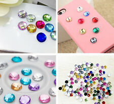 6pcs Big Cute Rhinestone Home Button Stickers Accessories For iPhone 4 4S 5 iPod