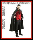 Gothic Count Dracula Halloween TV Movies Fancy Dress Costume Villain Licensed