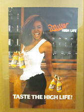 Vintage Miller High Life original hit girl beer advertisement poster 9968