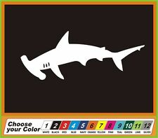 "5"" Shark Hammerhead fish tackle Vinyl Decal Sticker window Car Truck boat"