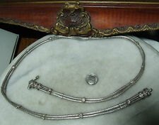 "Antique Victorian Sterling Silver Super Heavy Rare 29.75"" Belt"