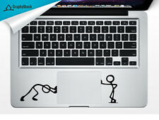 Stick Men Pushing Trackpad Laptop Sticker Mac Decals for 13 15 17 inch Stickman