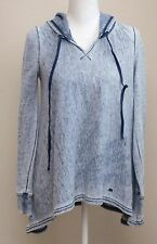 Juicy Couture Size Small S Blue Hooded Pullover Sweatshirt Hoodie Long Sleeve