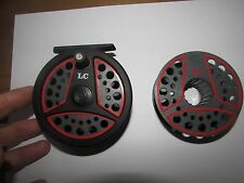 V good vintage leeda LC100 trout fly fishing reel  + spool 3.+ 3/5ths .. .