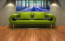"Print tree landscape australia painting on canvas aboriginal art 36"" x 12"""