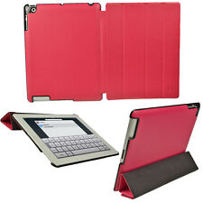 Pink Leather Case for Apple iPad 2, 3 & New 4 with Retina Display Smart Cover