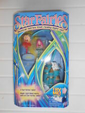 Vintage Galoob Star Fairies LIGHT UP DOLLS Gold Castle