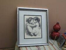 Turner Wall Accessories Signed Saron Charcoal Framed Print Mother Daughter