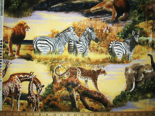 Robert Kaufman Quilting Sewing Fabric Jungle Animals Bringing Nature Home #4539