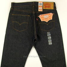 Levis Men's 501 Original SHRINK TO FIT Jeans RIGID INDIGO 34 X 32 Levi's STF