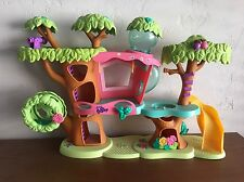 Littlest Pet Shop Jungle Playset Magic Motion Tree House Hasbro LPS Slide Seesaw