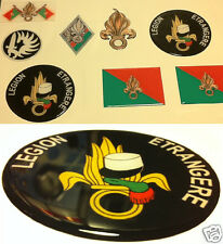 1 STICKER FOREIGN LEGION COVERED WITH RESINATED WINE 3D EFFECT DIAMETER 9 CM