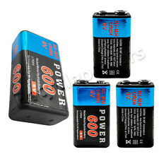 4pcs Power 9V 600mAh Rechargeable Ni-MH NiMH Standard Battery 17R8H