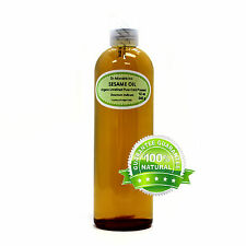 12 OZ SESAME OIL UNREFINED ORGANIC CARRIER EXPELLER PRESSED VIRGIN RAW PURE