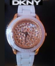 DKNY LADIES LUXURY ROSE GOLD CRYSTALS COLLECTION WATCH NY8667