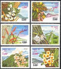 Laos 1983 Flowers/Orchids/Nature/Plants/Mountains 6v set ref:b8240