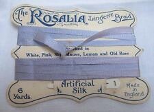 "ANTIQUE EDWARDIAN ""THE ROSALIA"" LINGERIE BRAID & BODKIN on ORIGINAL DISPLAY CARD"