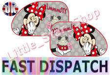 TWO EXTRA LARGE Disney MINNIE MOUSE  Kids Children Car Window Sun Shades 65x38cm