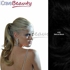 Clip in Ponytail Wrap Around Ponytail Hair Extension - Cascades - Wavy Hairpiece